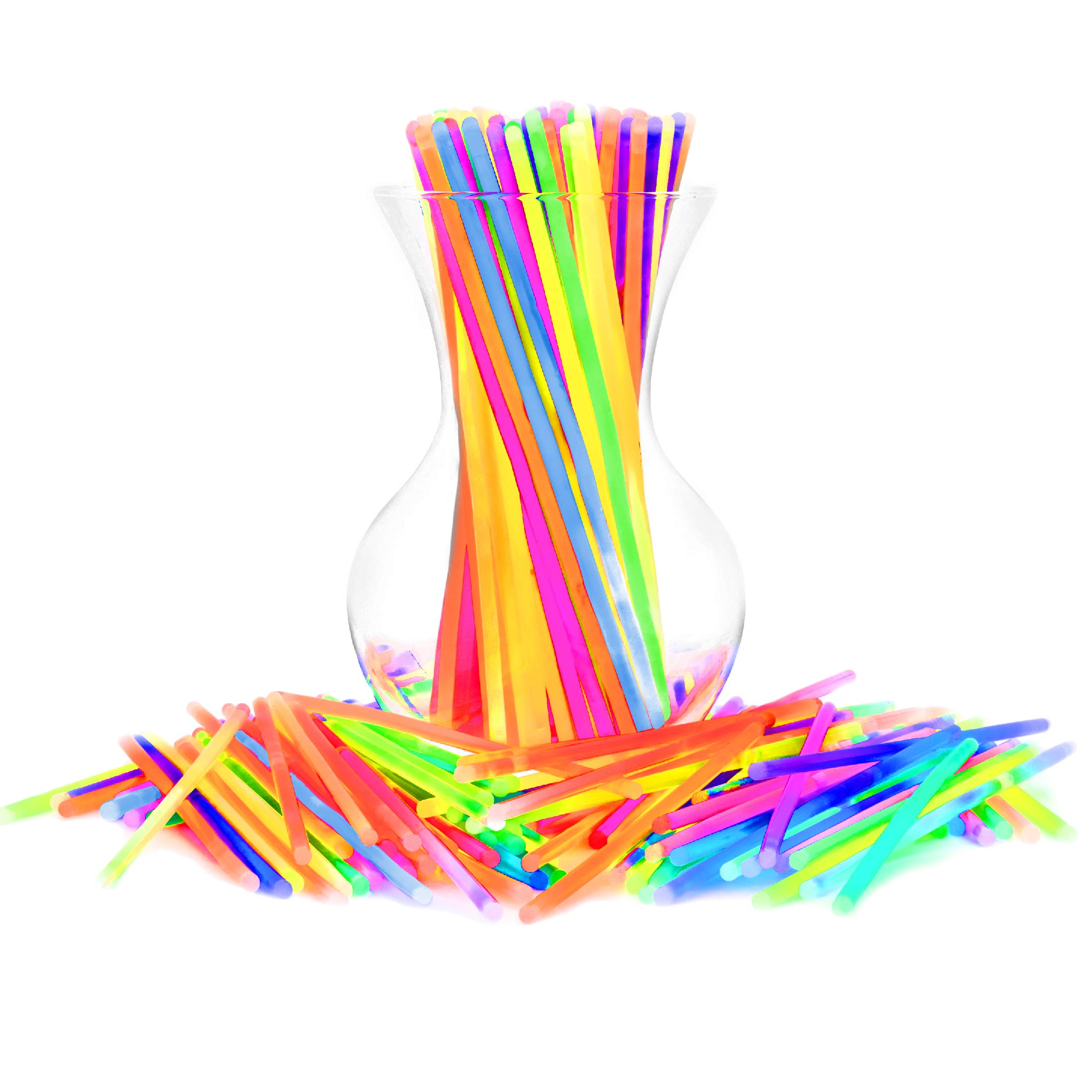 Glow Sticks Bulk Party Favors 400pk - 8'' Glow in the Dark Party Supplies, Light Sticks Neon Party Glow Necklaces and Bracelets for Kids or Adults