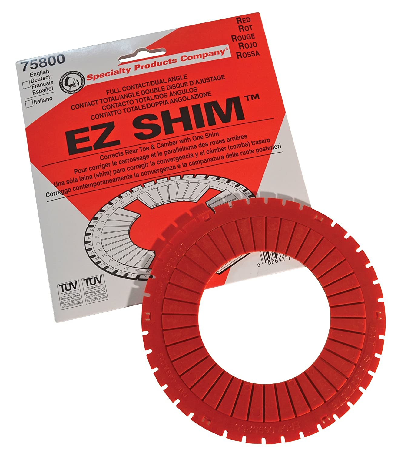 Specialty Products Company 75800 Red Dual Angle Shim SPT75800