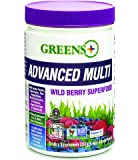 Greens Plus Advanced Multi Wild Berry Superfood | Dietary Supplement | Soy Dairy & Gluten free - 267 gram Greens Powder