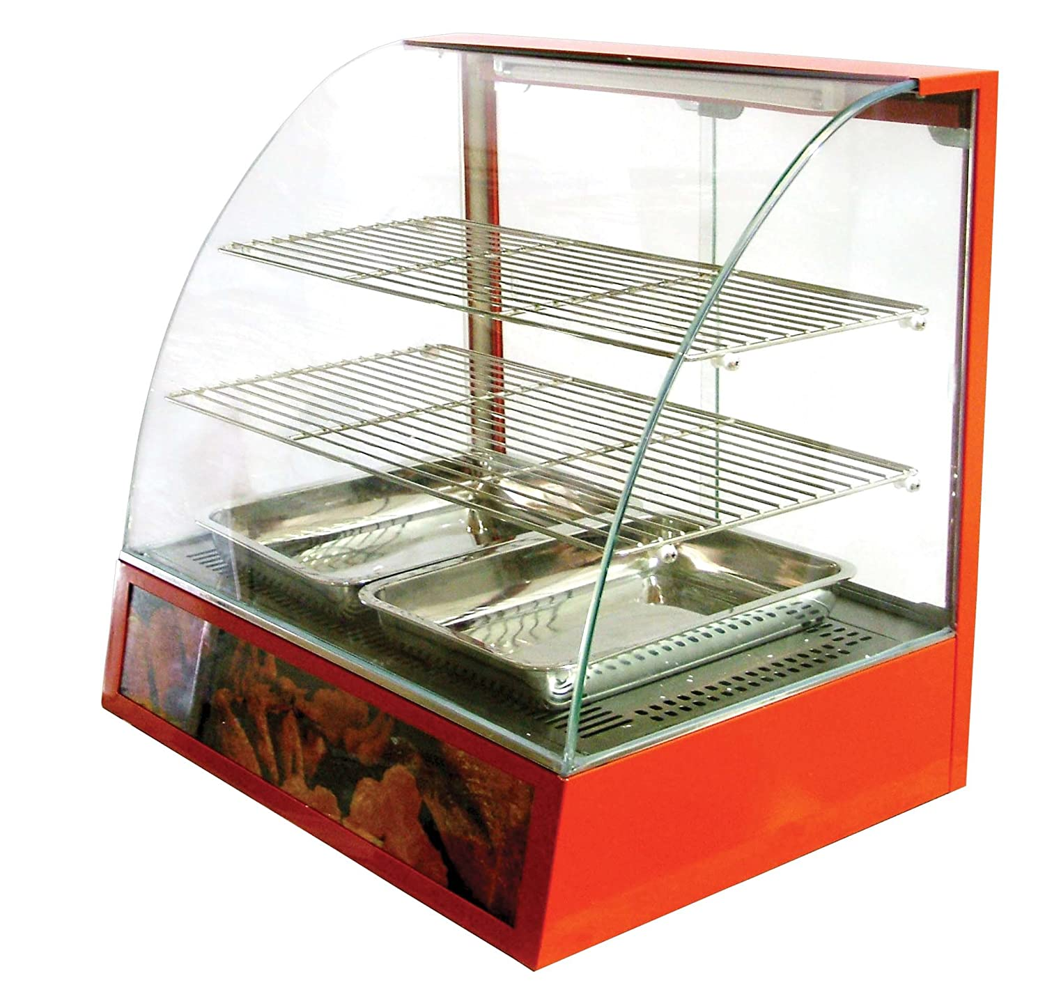 Amazon.com: Omcan 21479 Commercial Curved Glass Hot Food Warmer ...