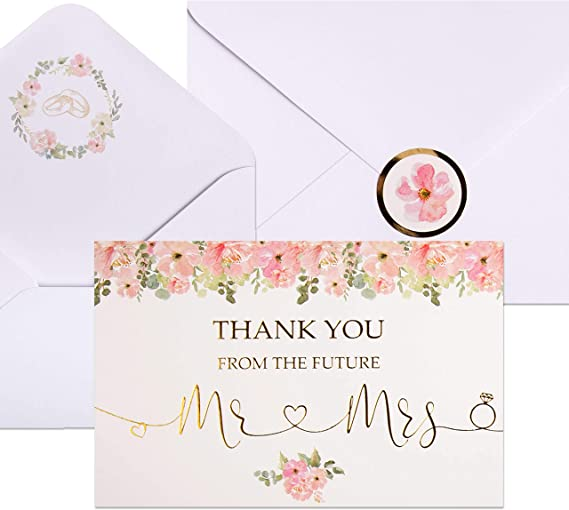 Elegant Note Card Designed by Tiki Lemur Wedding Stationery Wedding Thank You cards in classic design; Anniversary Party Bridal Shower