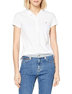 Tommy Hilfiger Heritage Long Sleeve Slim Polo Mujer: Amazon.es ...