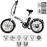 Nilox Doc X1 Plus, Bicicletta Elettrica Pieghevole, Motore 36v Unisex - Adulto, Bianco, Taglia Unica