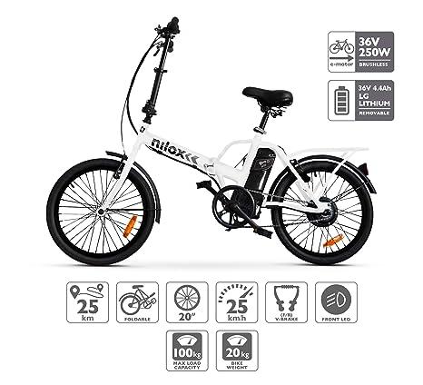Nilox Doc X1 Plus Bicicletta Elettrica Pieghevole Motore 36v
