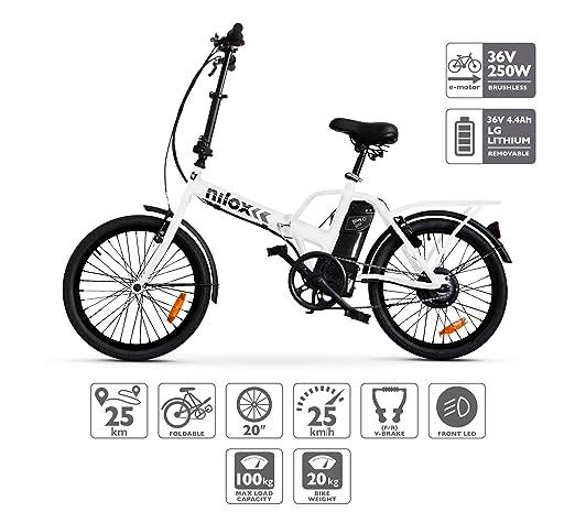 Nilox 30NXEB140V003 Bicicleta Eléctrica, Unisex Adulto, Blanco, Talla Única: Amazon.es: Deportes y aire libre