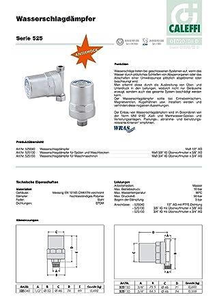 Business & Industrie 525150 Caleffi Wasserschlagdämpfer 525150