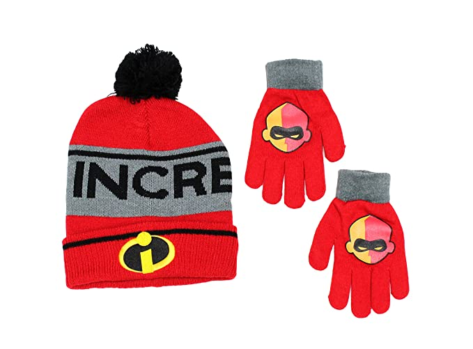 b6a6f3e306926 Amazon.com: Disney's Incredibles 2 Boys Cold Weather Hat and Glove ...