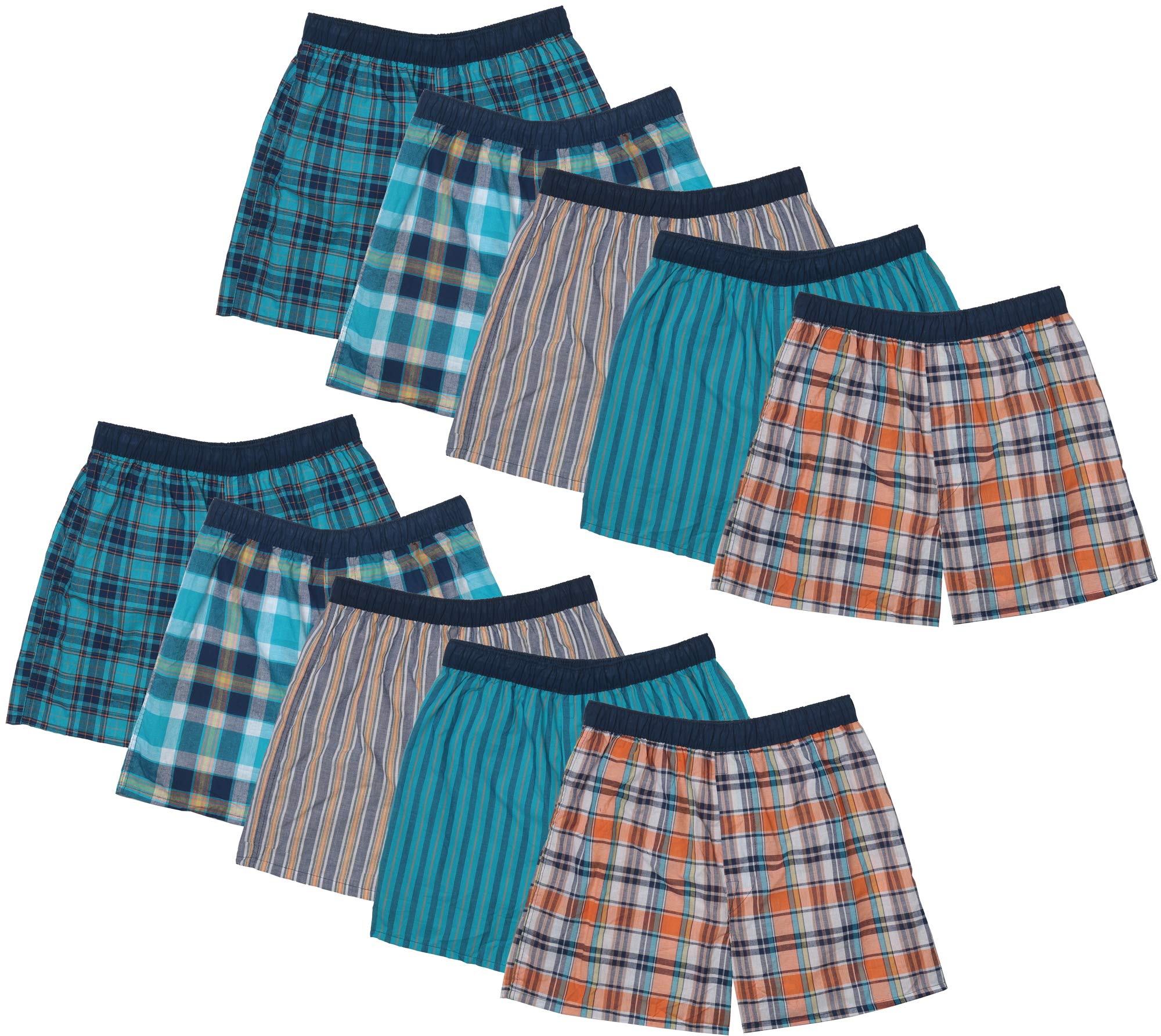 Fruit of the Loom Boys' Woven Boxer 10-Pack, Assorted, Small