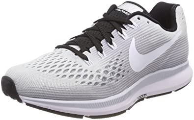 hot sales 0e126 82ca1 NIKE Women's Air Zoom Pegasus 34 Running Shoe (10.5, Pure  Platinum/White-Black)