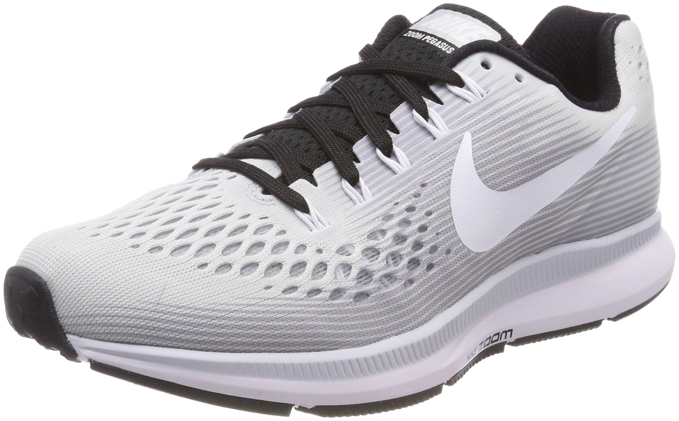 Nike Women's Air Zoom Pegasus 34 Running Shoe (10.5 M US, Pure PlatinumWhite Black)