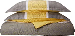Chic Home 8-Piece Embroidery Comforter Set, King, Euphoria Yellow