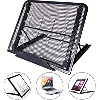 Qteey Laptop Stand, Multifunction 7 Angle Points Mini Ventilated Adjustable Foldable Laptops Stand Skidding Prevented…