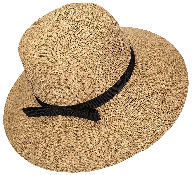 Janestone Women Plus Size Beach Dress Spaghetti Strap Backless V Neck  Bikini Cover up Hat larger image 5a605c7cd352