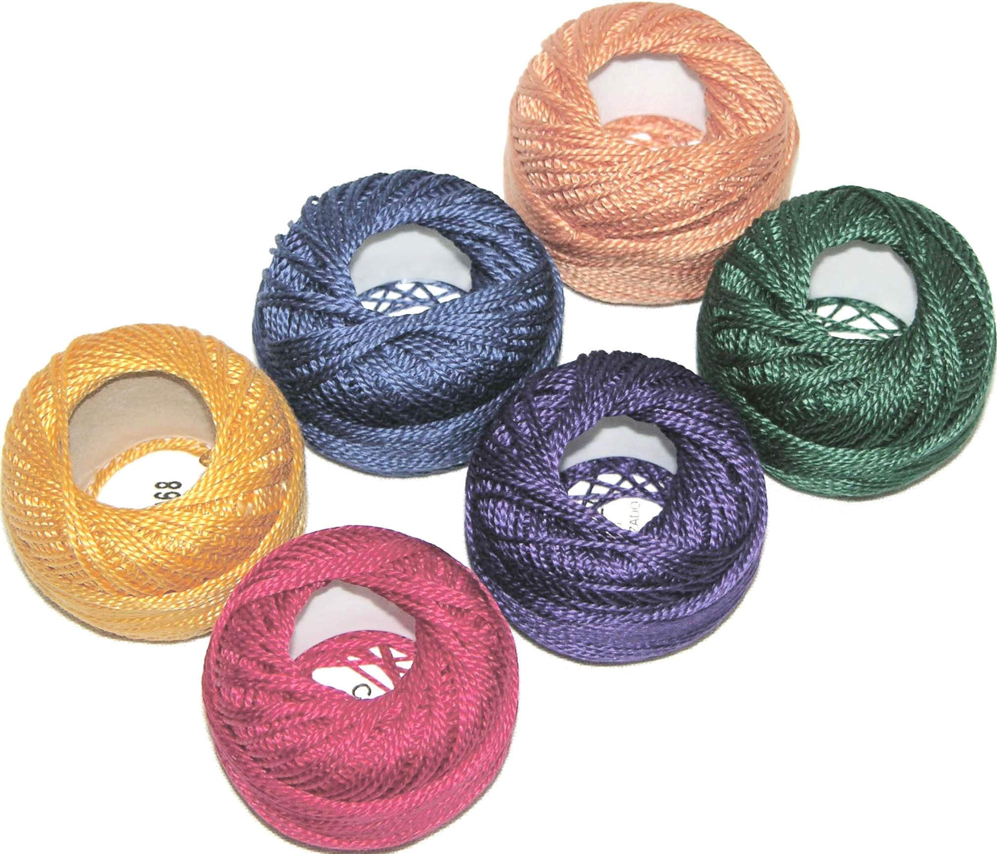 Pearl Cotton Size 5 Thread Sampler Pack Jewel