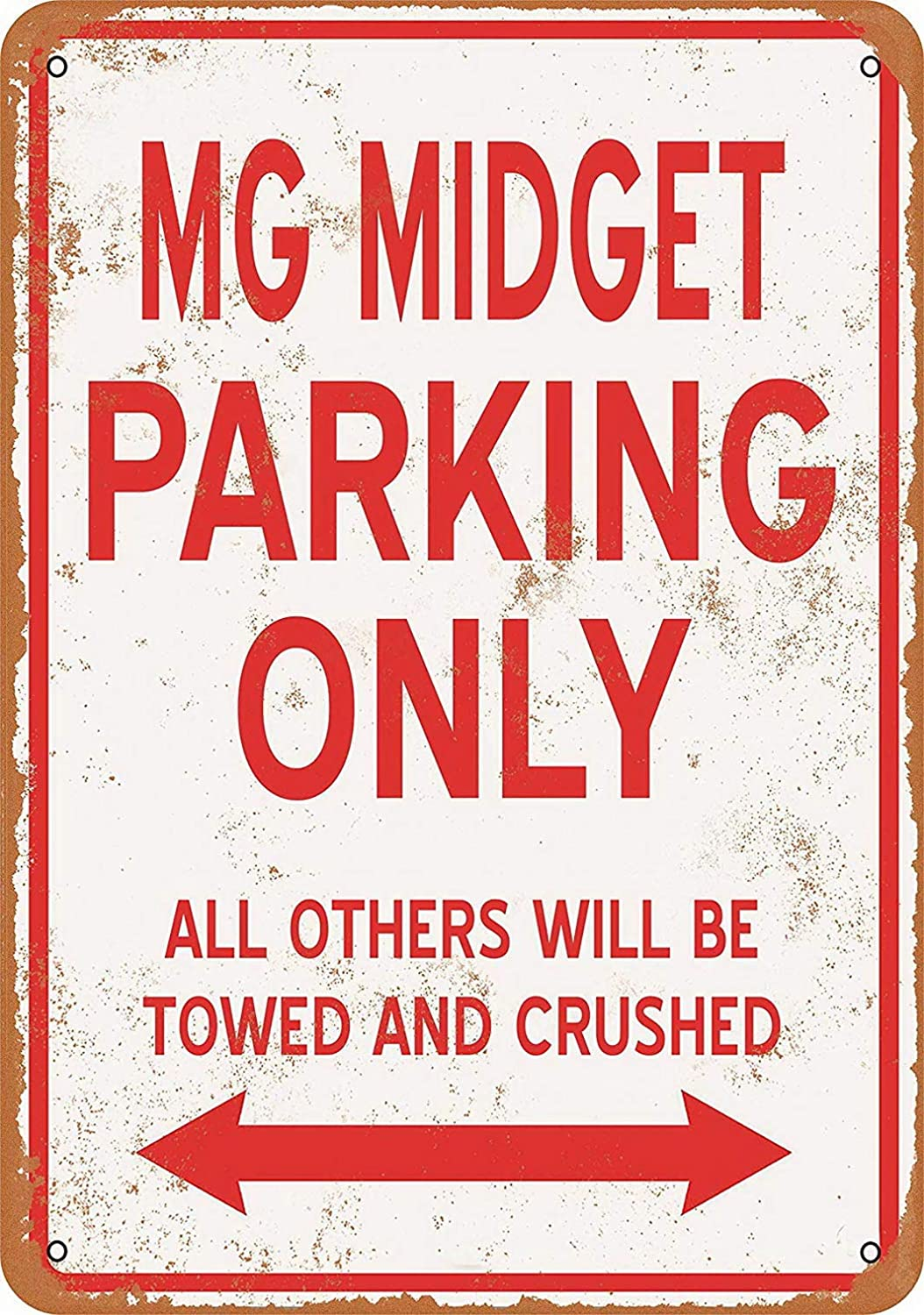 Sylty 8 x 12 Metal Sign - MG Midget Parking ONLY Coffee House or Home