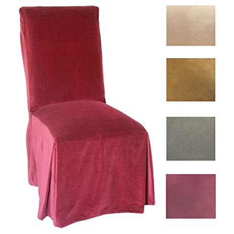 Merveilleux Classic Slipcovers Microsuede Parsons Chair Slipcover (Set Of 2) Olive