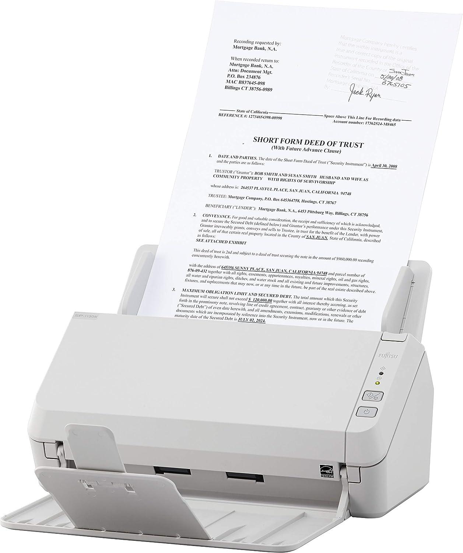 Fujitsu SP-1130N Duplex Document Image Scanner White