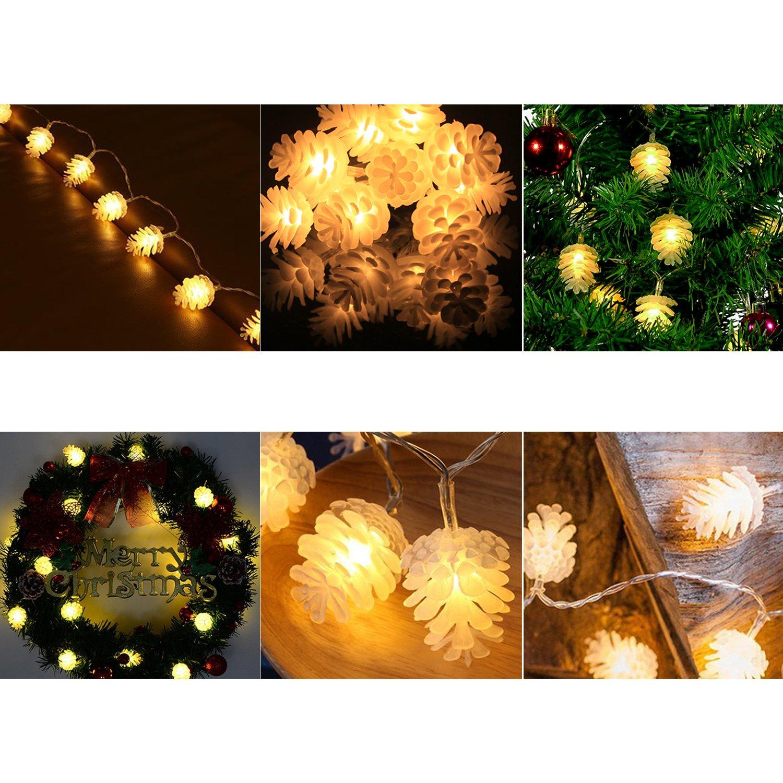 Tannenzapfen Lichterkette Batteriebetriebene 20 LED String ...