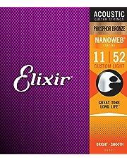 Elixir 16027 - Juego de cuerdas para guitarra acústica de fósforo/bronce, 0.011-0.052