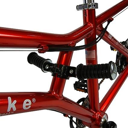 Amazon.com: Buddy bicicleta plegable clavijas de pie ...