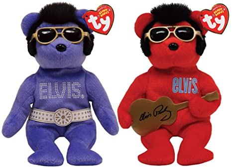 Amazon.com  Ty Beanie Baby Elvis Bear (Colors May Vary)  Toys   Games a3e3d646642