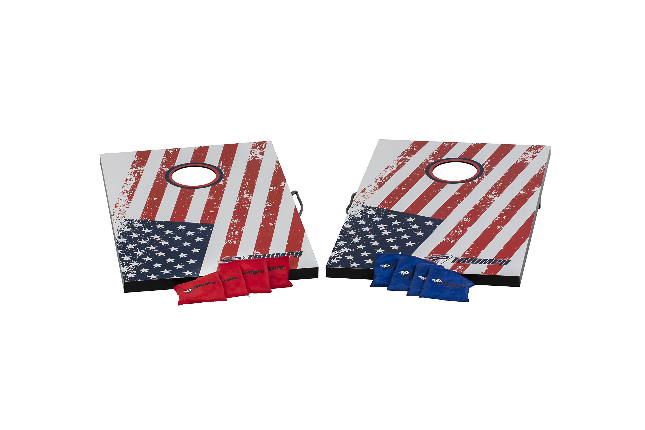 Triumph Patriotic Bean Bag Toss Set Includes Two Boards and Eight All-Weather Bean Bags by Triumph Sports