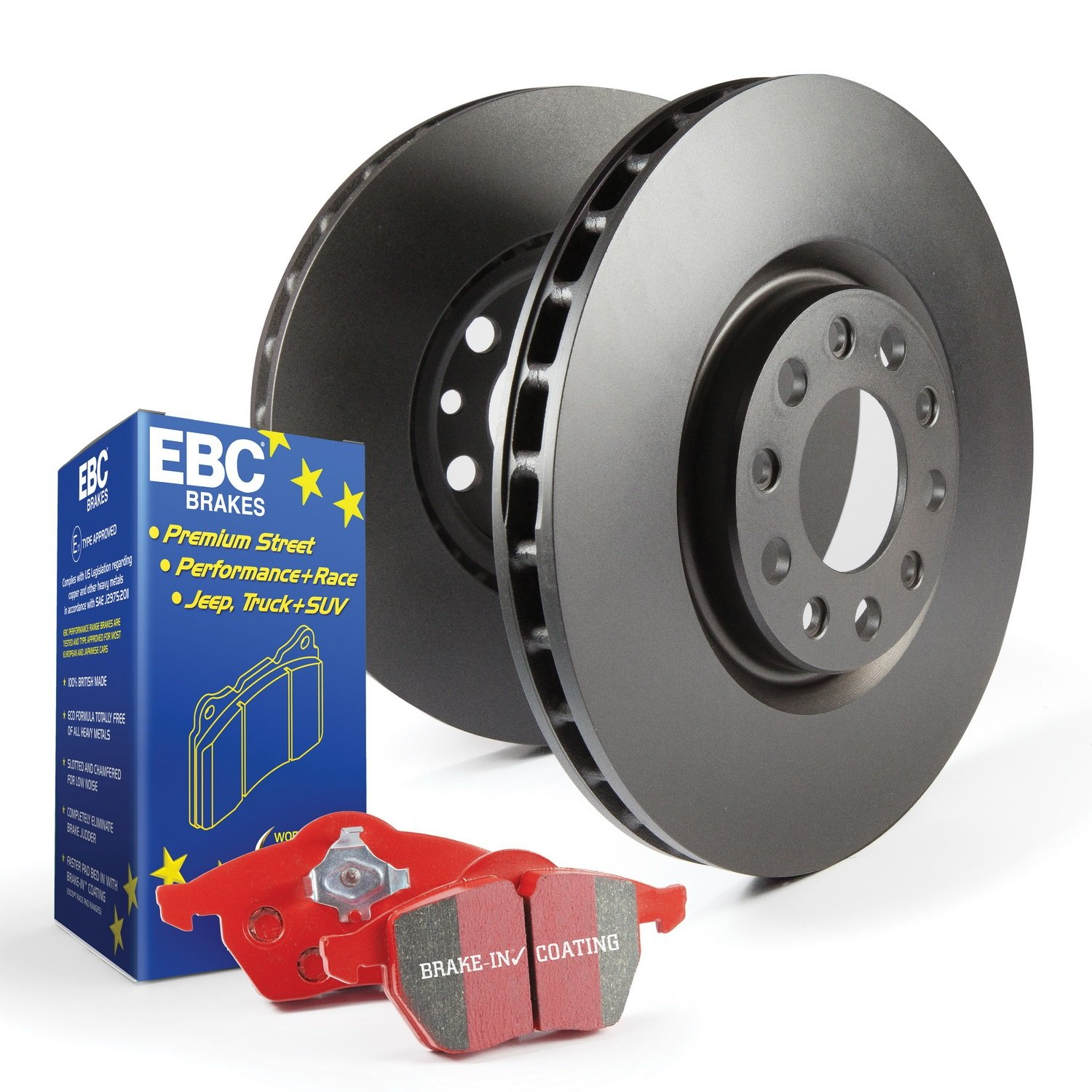 EBC Brakes S12KR1090 S12 Rear Kits Redstuff and RK Rotors-Auto Version of S14 Rear Kits