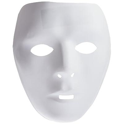 Widmann MA0110 - Lot de 12 masques enfant a peindre 2 modeles pvc