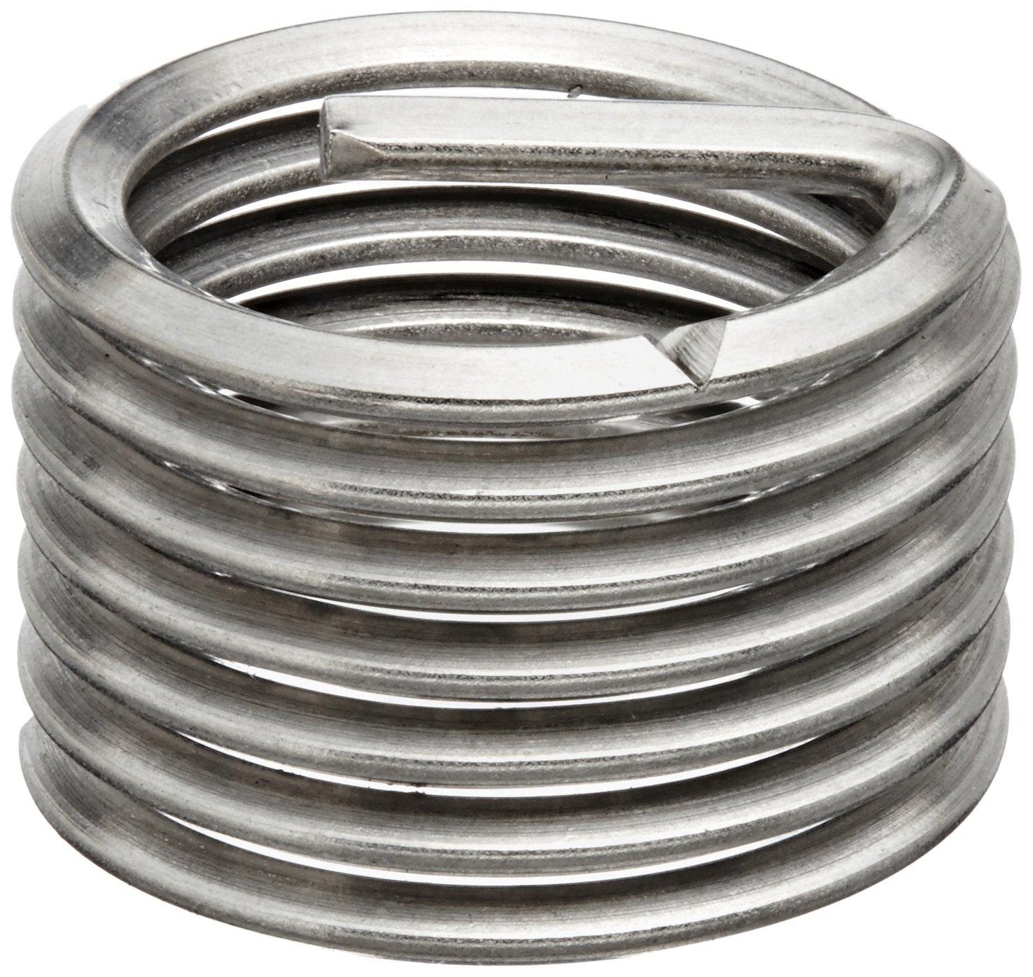 E-Z Lok Threaded Insert, 18-8 Stainless Steel, Helical, M3-0.5 Internal Threads, 3mm Length (Pack of 10)