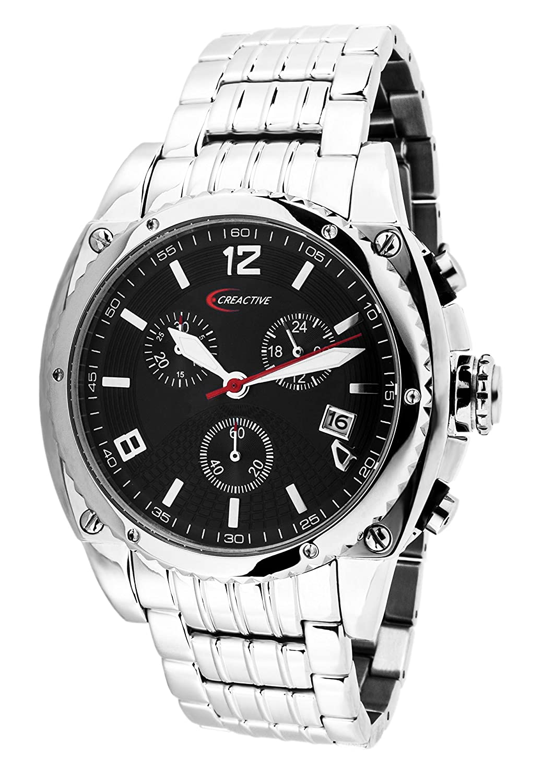 Creactive Herren-Armbanduhr Chronograph Quarz Analog Edelstahl - CA120104