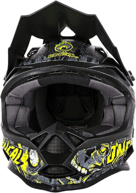 O Neal 7Series Evo casco motocross enduro MTB Menace Nero//Verde 2016Oneal