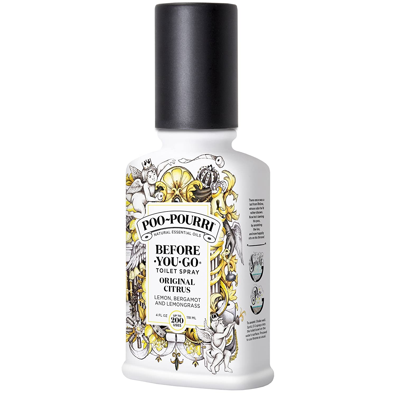 Poo-Pourri Before-You-Go Toilet Spray 2 oz Bottle, Original Citrus Scent Poo~pourri PP-002-CB