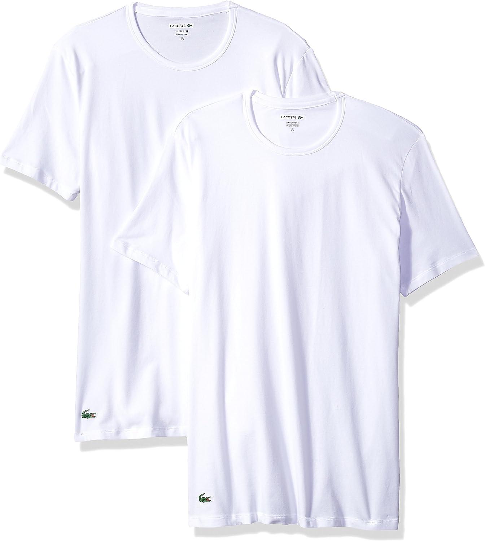 Lacoste Mens 2-Pack Colours Cotton Stretch Crew T-Shirt