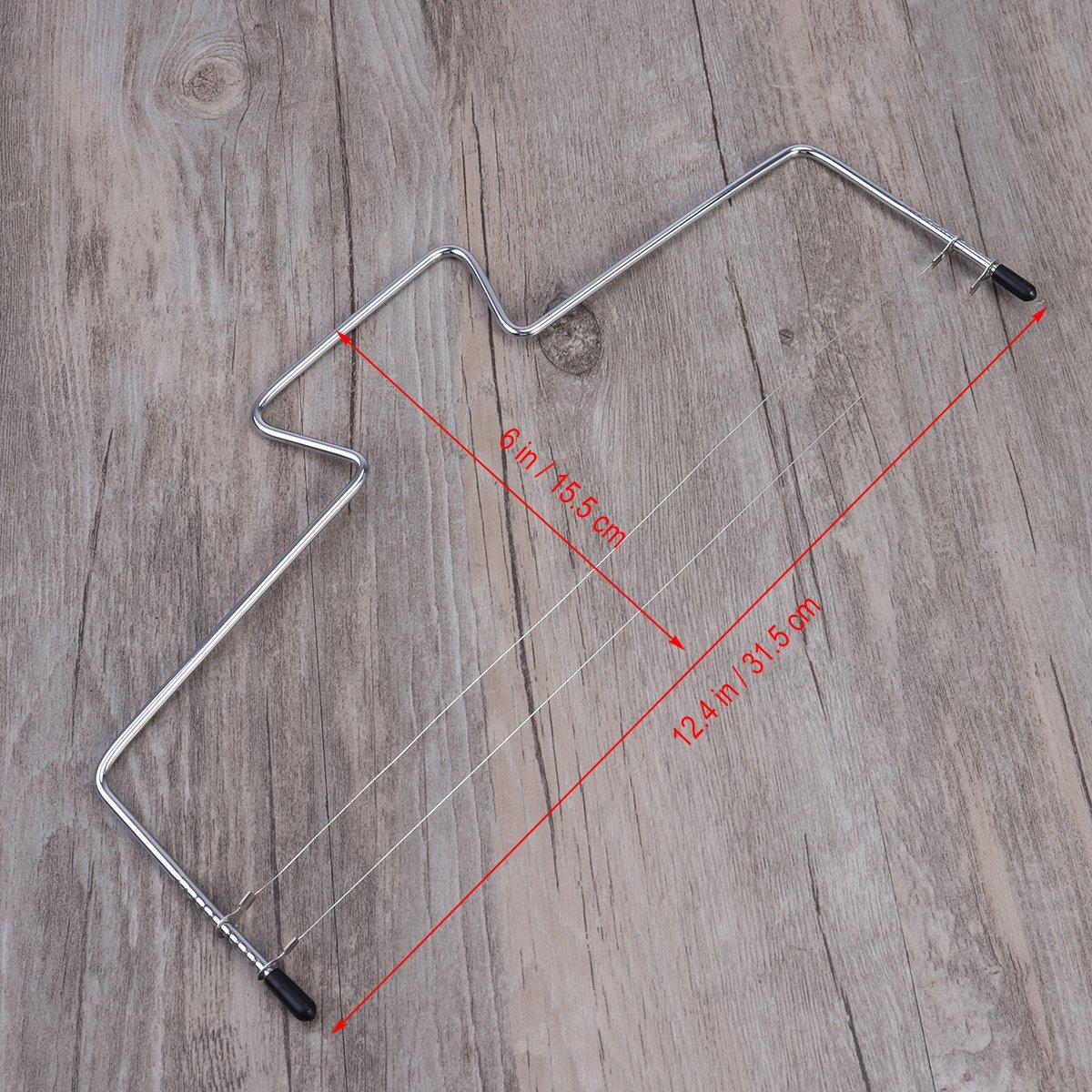 BESTOMZ Tortenbodenteiler mit 2 gezahnten Schneiddr/ähten 32X16CM