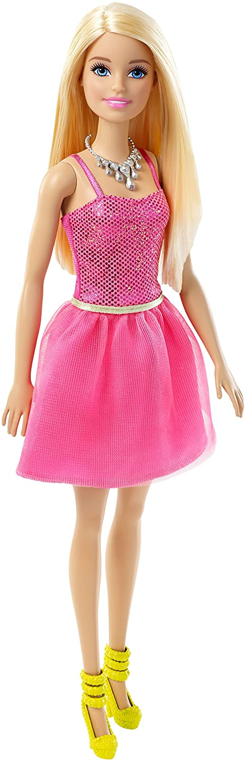 Barbie Glitz Doll, Coral Dress Mattel DGX83