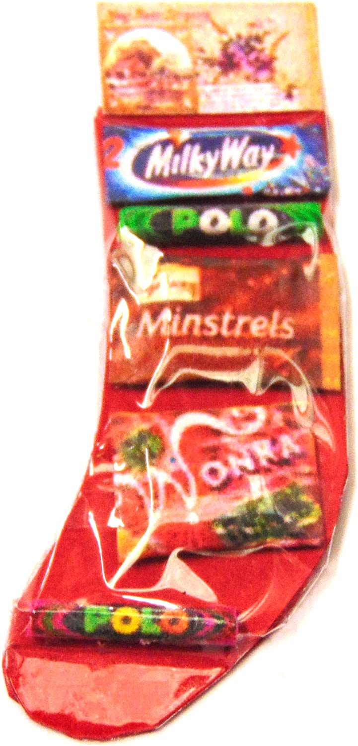 Tumdee Miniatures Dolls House Accessory Red Filled Christmas Stocking