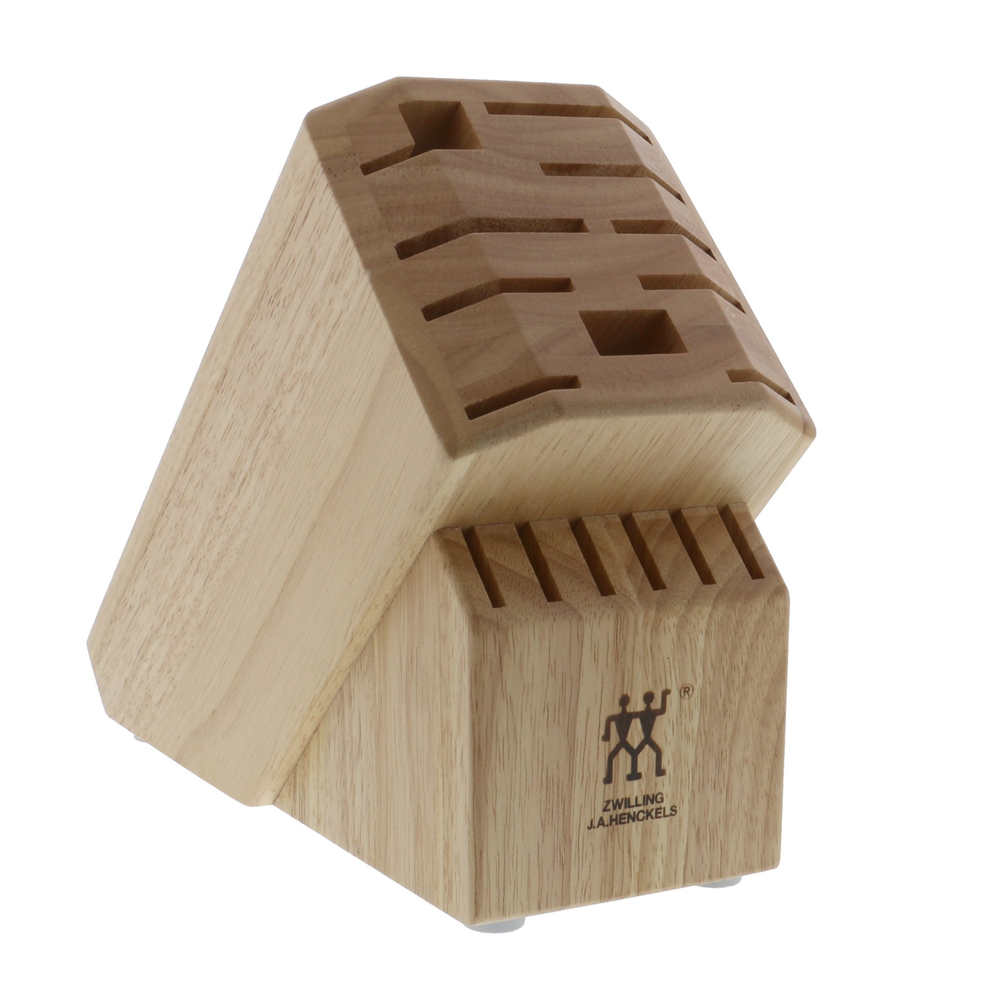 ZWILLING Pro 16-slot Knife Block - Rubberwood Natural