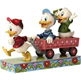 Disney Traditions Huey Dewey and Louie On Wagon - Multi-Colour