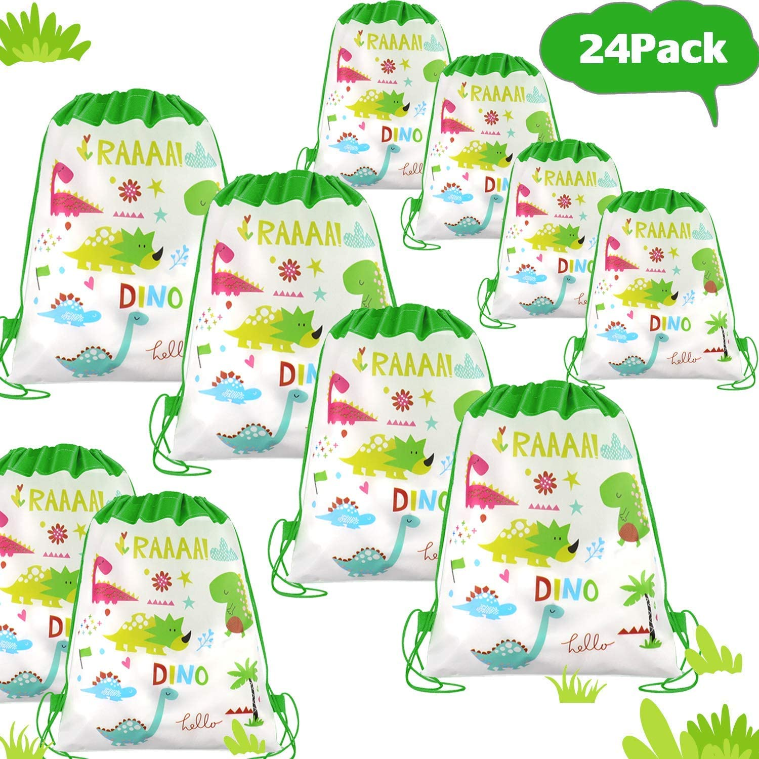 Pack of 12 Dinosaur Stickers Goody Bag Fillers Boys Girls Kids Party Bags