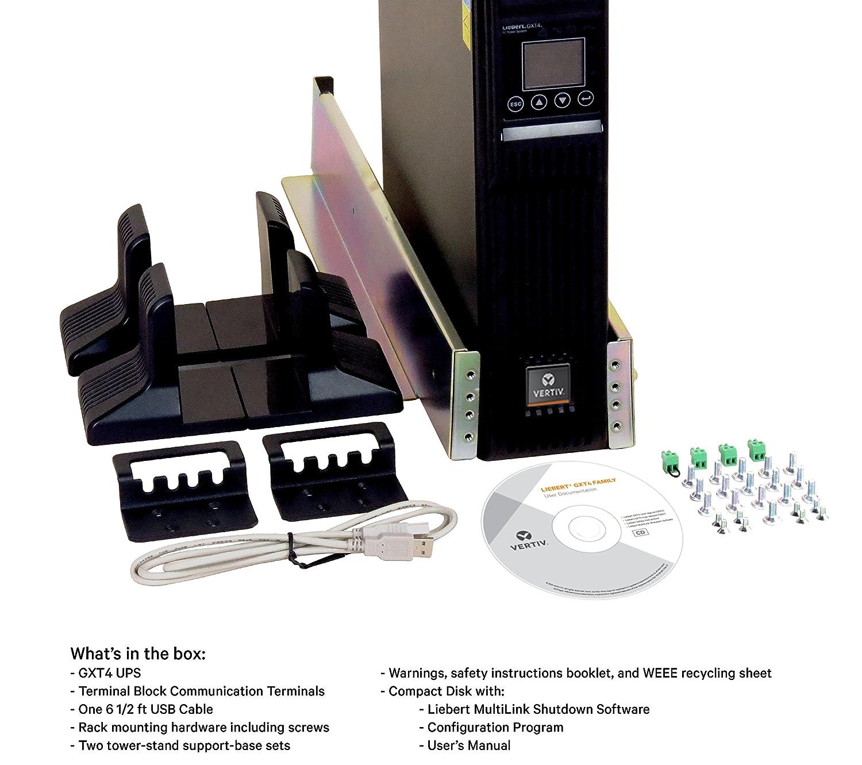 Vertiv Liebert GXT4, 1500VA/1350W, 120V On-line, Double-Conversion  Rack/Tower Smart UPS (GXT4-1500RT120)