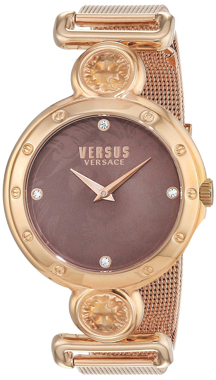 Versus by Versace Women 's Sunnyridge QuartzステンレススチールCasual Watch, Color : gold-toned (Model : sol130016 ) B0192A2RXQ