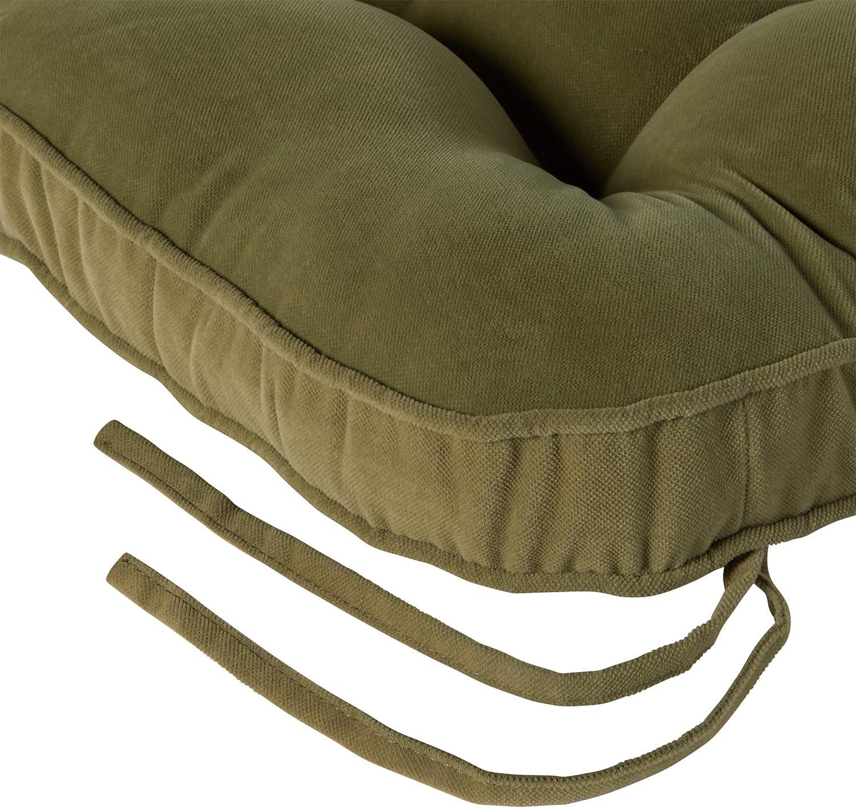 Greendale Home Fashions Hyatt 2-Piece Jumbo Rocking Chair Cushion Set Fern