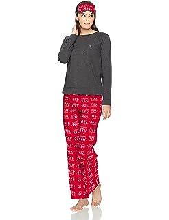 3cc55c2d71 Tommy Hilfiger Women s Top and Flannel Pant Bottom Pajama Set Pj