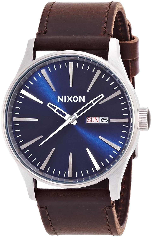 [ニクソン]NIXON SENTRY LEATHER: BLUE/BROWN NA1051524-00 メンズ 【正規輸入品】 B00FO4EUXUブルー/ブラウン