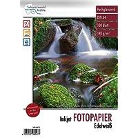 Schwarzwald Mühle Inkjet Fotopapier: Hochglanz-Fotopapier Edelweiß, A4, 180 g/m², 100 Blatt (Beschichtetes Fotopapier)