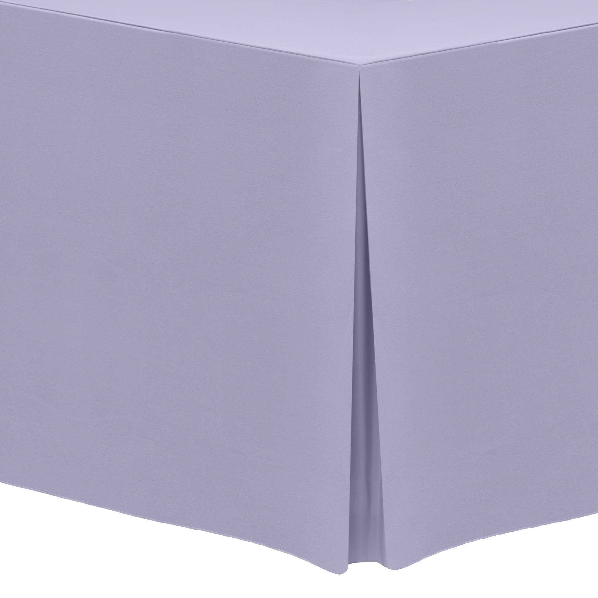 Ultimate Textile (3 Pack) 6 ft. Fitted Polyester Tablecloth - for 30 x 72-Inch Banquet and Folding Rectangular Tables, Lilac Light Purple