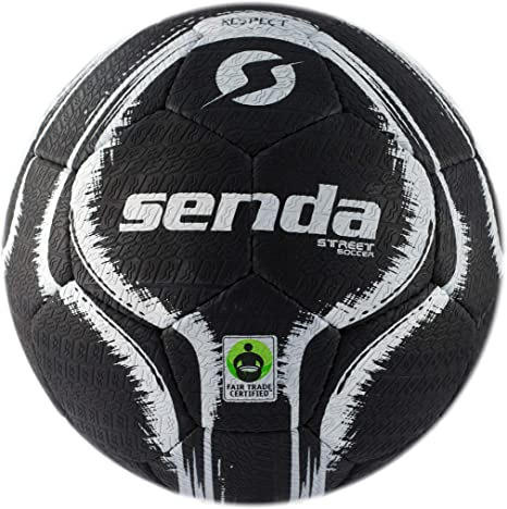 Balón de fútbol Senda Street, Certificado de Comercio Justo, Negro ...