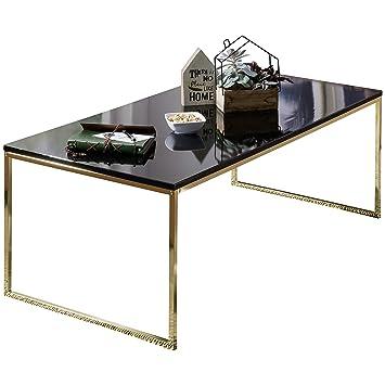 Finebuy Couchtisch Ravi 120x45x60 Cm Metall Holz Sofatisch Schwarz Gold Design Wohnzimmertisch Rechteckig Stubentisch Mit Metallgestell
