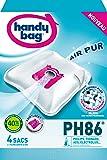 Melitta PH86 Handy Bag 4 Sacs Aspirateurs, Pour Aspirateurs Philips, Electrolux, AEG et Tornado, Progress, Standard-Bag et Zanussi, Fermeture Hermétique, Filtre Anti-Allergène, Filtre Moteur