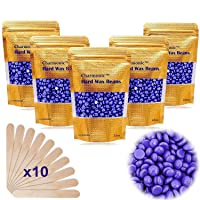 17.5 Oz Hair Wax Beans by Charmonic, Hard Body Wax Beans, Hair Removal Depilatory...